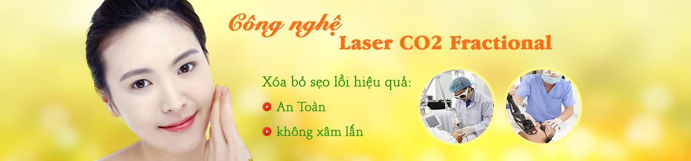 Trị sẹo lồi Laser Co2 Fractional
