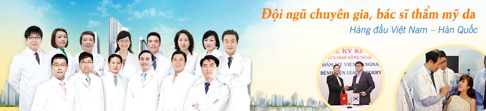 Đội ngũ chuyên gia bác sĩ thẩm mỹ da giỏi, giàu kinh nghiệm
