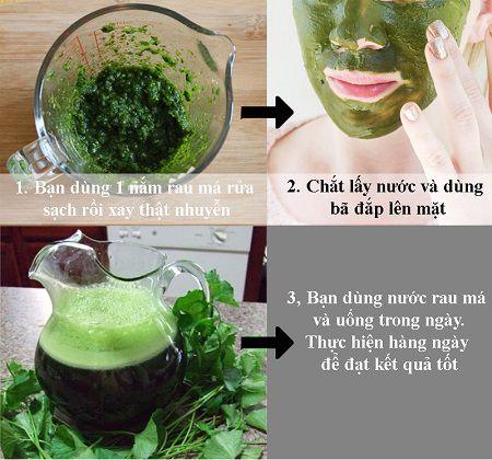 Trị sẹo lõm do mụn bằng rau má hiệu quả nhất